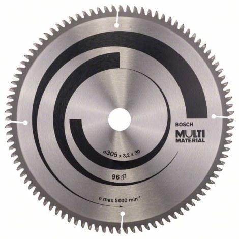 Pjovimo diskas medienai Bosch MULTI MATERIAL; 305x3,2x30,0 mm; Z96; -5°