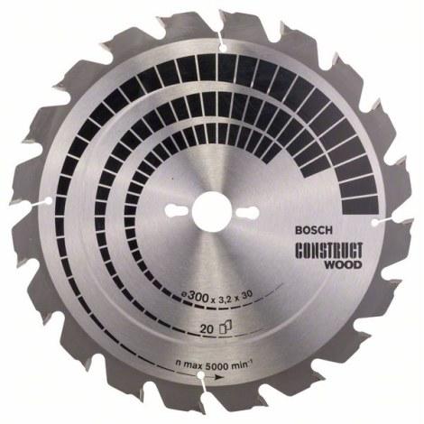 Pjovimo diskas medienai Bosch CONSTRUCT WOOD; 300x3,2x30,0 mm; Z20; 15°