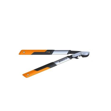 Svertinės sodo žirklės prasilenkiančiais ašmenimis su kablio formos galvute Fiskars PowerGear X LX92