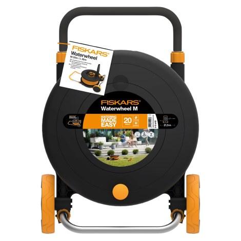 Laistymo žarnos vežimėlis Fiskars 1023643; 20 m; 1/2''; su laistymo žarna