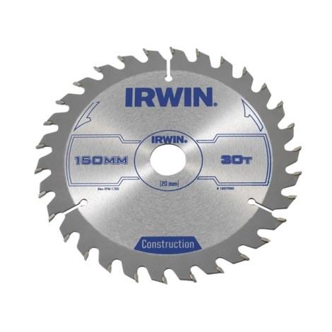 Pjovimo diskas medienai Irwin; 150x2,5x20,0 mm; Z30
