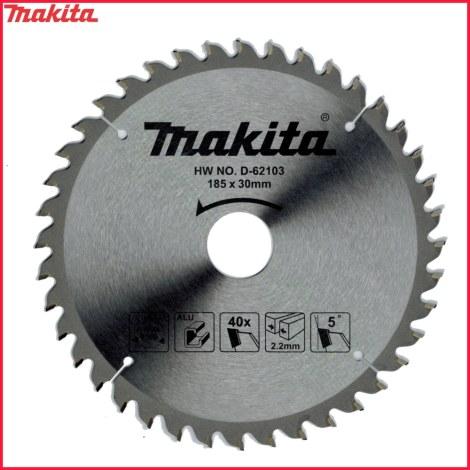 Pjovimo diskas aliuminiui Makita; 185x2,2x30,0 mm; Z40; 5°