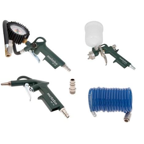 Kompresoriaus įrankių rinkinys dažymui ir pūtimui Metabo LPZ 4 Set