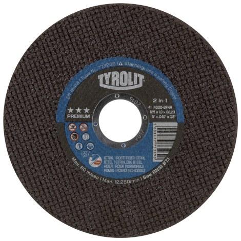 Pjovimo diskas Tyrolit; Ø125x1 mm; 1 vnt.