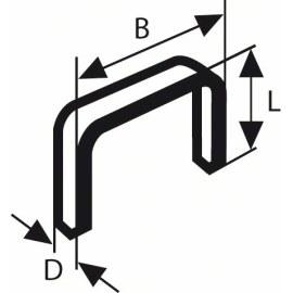 Kabės Bosch; 11,4x6 mm; 1000 vnt.; tipas 53; plieno