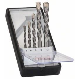 Grąžtų komplektas betonui Silver Percussion; Ø4-10 mm; 5 vnt