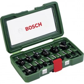 Frezų rinkinys Bosch; 15 vnt