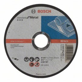 Abrazyvinis pjovimo diskas Bosch Standard; 125x1,6 mm