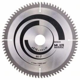 Universalus pjovimo diskas Bosch MULTI MATERIAL; 216x2,5x30,0 mm; Z80; -5°