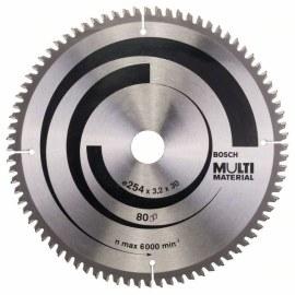 Pjovimo diskas medienai Bosch MULTI MATERIAL; 254x3,2x30,0 mm; Z80; -5°