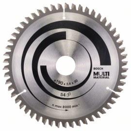 Pjovimo diskas medienai Bosch MULTI MATERIAL; 190x2,4x30,0 mm; Z54; -5°