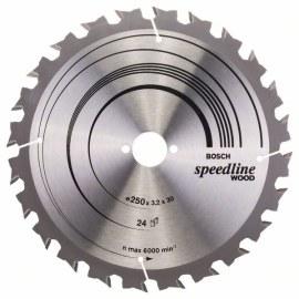 Pjovimo diskas medienai Bosch SPEEDLINE WOOD; 250x3,2x30,0 mm; Z24; 15°