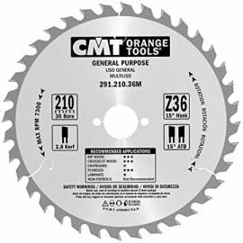 Pjovimo diskas medienai CMT 210x2,8x30; Z36; 15°