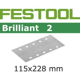 Šlif. popierius vibro šlifuokliui; Brilliant 2; 115x228 mm; P80; 50vnt.