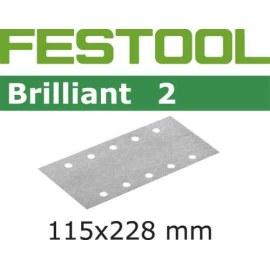 Šlif. popierius vibro šlifuokliui; Brilliant 2; 115x228 mm; P100; 100vnt.