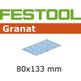 Šlif. popierius vibro šlifuokliui; Granat; 80x133 mm; P220; 100vnt.