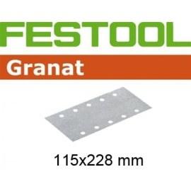Šlif. popierius plokšt. šlifuokliui; Granat; 115x228 mm; P320; 100vnt.