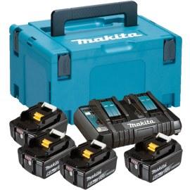 Priedų rinkinys Makita Powerpack; 18V; 4x5,0 Ah + DC18RD