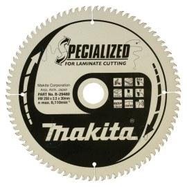 Pjovimo diskas laminatui Makita; 250x2,5x30,0 mm; Z84; 5°