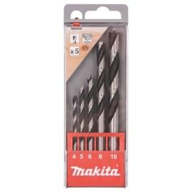Grąžtų komplektas medienai Makita D-57211; 4-10 mm; 5 vnt.