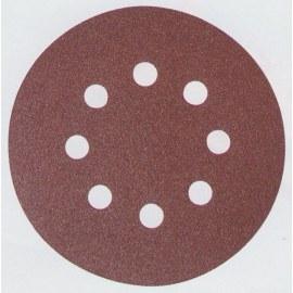 Šlif. popierius Velcro Backed; Ø125 mm; K180; 10vnt.