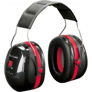 Apsauginės ausinės 3M Peltor OPTIME III CE; 35 dB; raudonos