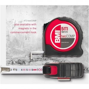 Matavimo ruletė BMI twoCOMP B472841021M; 8 m