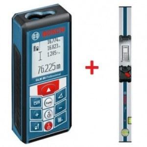 Lazerinis atstumų matuoklis Bosch GLM 80 + matavimo bėgelis R60 Professional