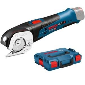 Akumuliatorinės universalios žirklės Bosch GUS 12V-300 Professional Solo L-boxx; 12 V (be akumuliatoriaus ir pakrovėjo)