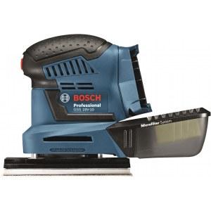 Plokštuminis šlifuoklis Bosch GSS 18 V-10; (be akumuliatoriaus ir kroviklio)