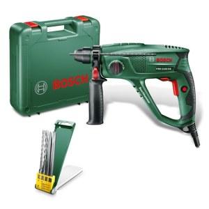Perforatorius Bosch PBH 2100 RE + grąžtų ir kaltų rinkinys