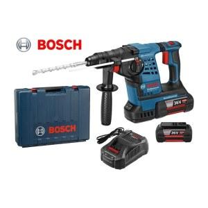 Perforatorius Bosch GBH 36 V-LI Plus; 3,2 J; SDS-plus; 36 V; 2x4,0 Ah; akum.