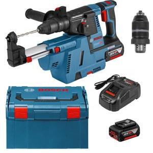 Perforatorius Bosch GBH 18V-26F; 2,6 J; SDS-plus; 18 V; 2x6,0 Ah akum+ Bosch GDE 18V-16