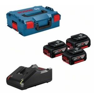 Priedų rinkinys Bosch 0615990L3T; 18V; 3x5,0 Ah + pakrovėjas GAL18V-40 akumuliatoriniams įrankiams