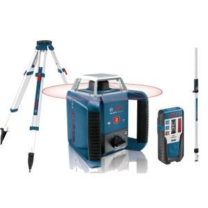 Lazerinis nivelyras Bosch GRL 400 H+ imtuvas LR1 + stovas BT 170 HD + liniuotė GR 240