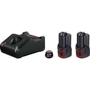 Priedų rinkinys Bosch GBA; 12 V; 2x2,0 Ah + pakrovėjasGAL 12V-40
