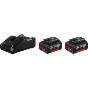 Priedų rinkinys Bosch GBA; 18 V; 2x4,0 Ah + pakrovėjasGAL 18V-40