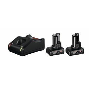 Priedų rinkinys Bosch GBA; 12 V; 2x6,0 Ah + pakrovėjasGAL 12V-40