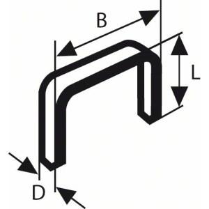 Kabės Bosch, tipas 53; 11,4x6 mm; 1000 vnt.