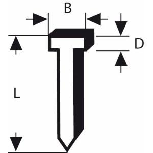 Vinys Bosch; tipas 48; 1,8x1,45x14 mm; 1000 vnt.