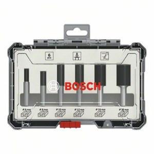 Frezų rinkinys Bosch Straight; 8 mm; 6 dalys