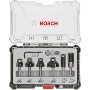 Frezų rinkinys Bosch Trim&Edging; 8 mm; 6 dalys
