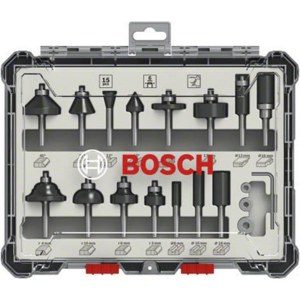 Frezų rinkinys Bosch; 6 mm; 15 vnt.