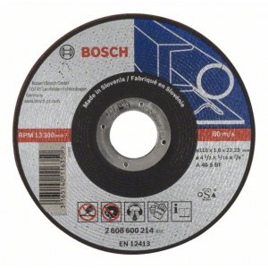 Abrazyvinis pjovimo diskas Bosch A46 S BF; Ø115x1,6 mm