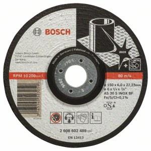 Šlifavimo diskas Bosch AS 30 S INOX BF; Ø150x6 mm