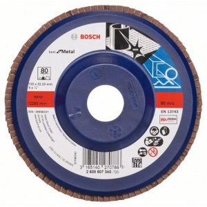 Vėduoklinis šlifavimo diskas Bosch Best for Metal; Ø125 mm