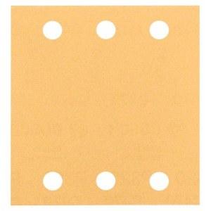 Šlif. popierius vibro šlifuokliui Bosch GSS140 Velcro; 115x107 mm; K80; 10 vnt.