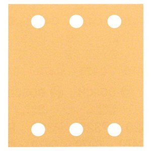 Šlif. popierius vibro šlifuokliui Bosch GSS140 Velcro; 115x107 mm; K120; 10 vnt.