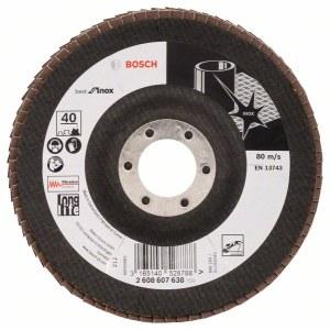 Vėduoklinis šlifavimo diskas Bosch Best for Inox; Ø125 mm