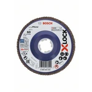 Vėduoklinis šlifavimo diskas Bosch X-LOCK; Ø125 mm; P60